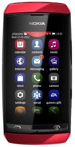 Nokia-Asha-306-Red